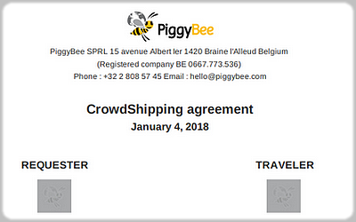 Contrat de transport CrowdShipping